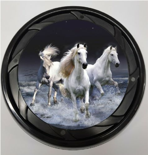 WHEELCHAIR & POWERCHAIR Personalised Spoke Guards WILD HORSES Design